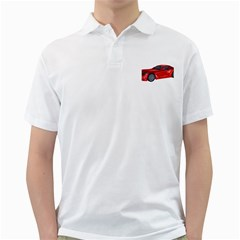 Red Sport Car 2 Mens  Polo Shirt (White)