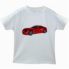 Red Sport Car 2 Kids' T-shirt (White)