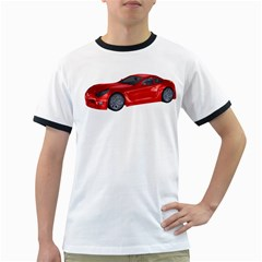 Red Sport Car 2 Mens' Ringer T-shirt