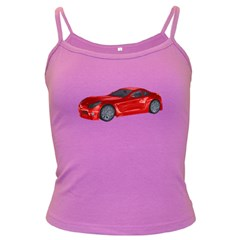 Red Sport Car 2 Spaghetti Top (Colored)