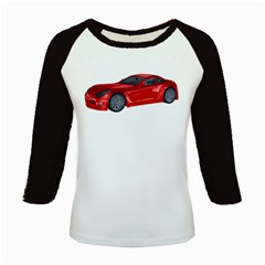 Red Sport Car 2 Women s Long Cap Sleeve T Shirt