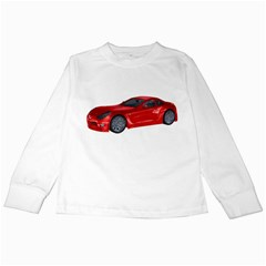 Red Sport Car 2 Kids Long Sleeve T-Shirt