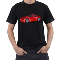 Red Sport Car 2 Mens' T-shirt (Black)