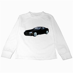 Black Sport Car Kids Long Sleeve T Shirt