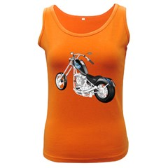 Motorbike Womens  Tank Top (dark Colored)