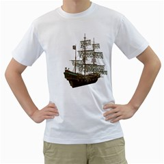 Pirate Ship 1 Mens  T-shirt (White)