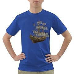Pirate Ship 1 Mens' T-shirt (Colored)