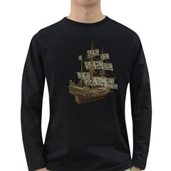 Pirate Ship 1 Mens' Long Sleeve T-shirt (Dark Colored)