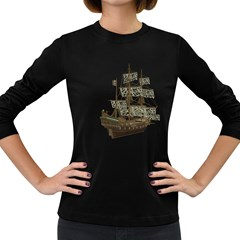 Pirate Ship 1 Womens' Long Sleeve T Shirt (dark Colored)