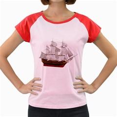 Ship 1 Women s Cap Sleeve T-Shirt (Colored)
