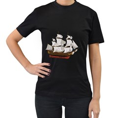 Ship 1 Womens' Two Sided T-shirt (Black)