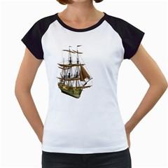 Ship 2 Women s Cap Sleeve T-Shirt (White)
