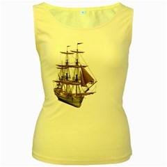 Ship 2 Womens  Tank Top (yellow)