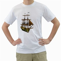Ship 2 Mens  T-shirt (White)