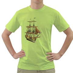 Ship 2 Mens  T-shirt (Green)