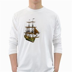 Ship 2 Mens' Long Sleeve T Shirt (white)