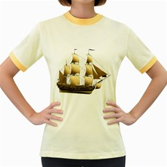 Ship 3 Womens  Ringer T Shirt (colored)