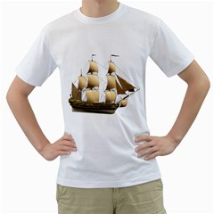 Ship 3 Mens  T-shirt (White)