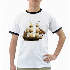 Ship 3 Mens' Ringer T-shirt