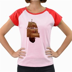 Ship 4 Women s Cap Sleeve T-Shirt (Colored)