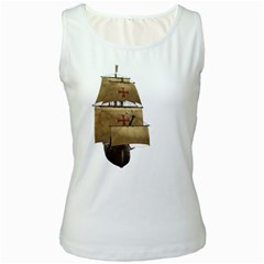Ship 4 Womens  Tank Top (White)