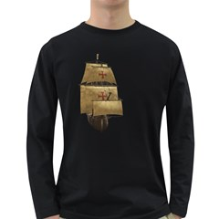 Ship 4 Mens' Long Sleeve T Shirt (dark Colored)