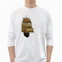 Ship 4 Mens' Long Sleeve T-shirt (White)