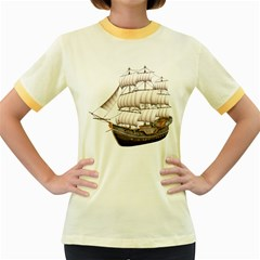 Ship 5 Womens  Ringer T-shirt (Colored)