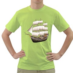 Ship 5 Mens  T-shirt (Green)