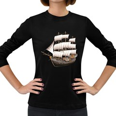 Ship 5 Womens' Long Sleeve T-shirt (Dark Colored)