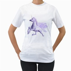 Purple Pegasus Womens  T-shirt (White)