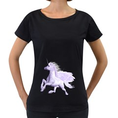 Purple Pegasus Womens' Maternity T-shirt (Black)
