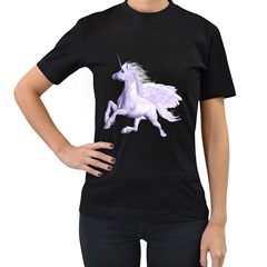 Purple Pegasus Womens' T-shirt (Black)