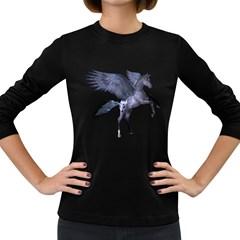 Flying Pony 1 Womens' Long Sleeve T-shirt (Dark Colored)
