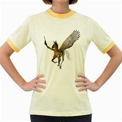 Flying Pony 2 Womens  Ringer T Shirt (colored)
