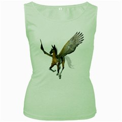 Flying Pony 2 Womens  Tank Top (Green)
