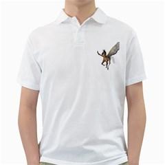 Flying Pony 2 Mens  Polo Shirt (White)