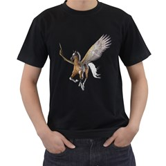 Flying Pony 2 Mens' Two Sided T-shirt (Black)