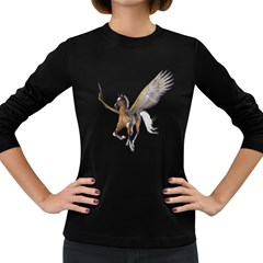 Flying Pony 2 Womens' Long Sleeve T Shirt (dark Colored)