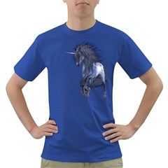 Blue Unicorn 1 Mens' T-shirt (Colored)