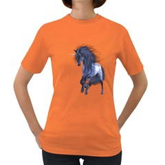 Blue Unicorn 1 Womens' T Shirt (colored)