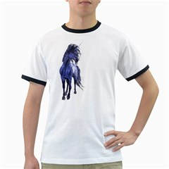 Blue Unicorn 2 Mens' Ringer T-shirt