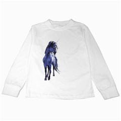 Blue Unicorn 2 Kids Long Sleeve T Shirt