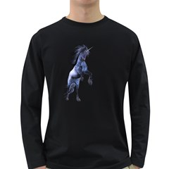 Blue Unicorn 3 Mens' Long Sleeve T Shirt (dark Colored)