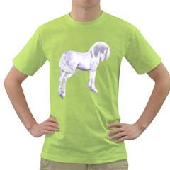 Silver Unicorn Mens  T Shirt (green)