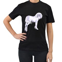 Silver Unicorn Womens' Two Sided T-shirt (Black)