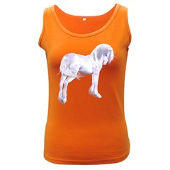 Silver Unicorn Womens  Tank Top (Dark Colored)