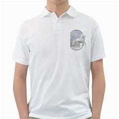 White Unicorn 1 Mens  Polo Shirt (White)
