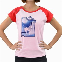 White Unicorn 2 Women s Cap Sleeve T Shirt (colored)