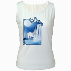 White Unicorn 2 Womens  Tank Top (White)